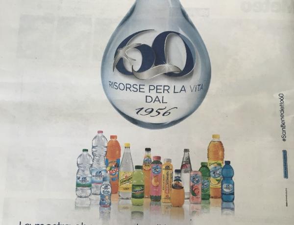 Partecipiamo attivamente ai 60 anni dell'Acqua Minerale San Benedetto